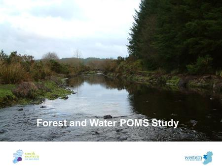Forest and Water POMS Study. Forest now constitutes 10% of land cover in Ireland (from 1% in 1920) –43% is on peat soils –Objective to expand forest cover.