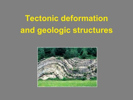 Tectonic deformation and geologic structures. Mountain building Anatomy of a convergent mountain belt Valley & ridge Blue ridge.