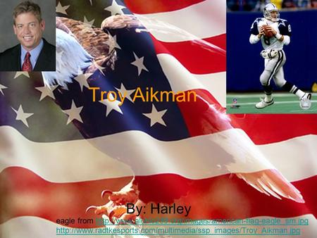 Troy Aikman By: Harley eagle from