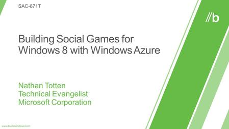 WHO WILL BENEFIT FROM THIS TALK TOPICS WHAT YOU'LL LEAVE WITH Developers Interested in HTML5 Games Interested in Windows Azure Interested in Game Development.