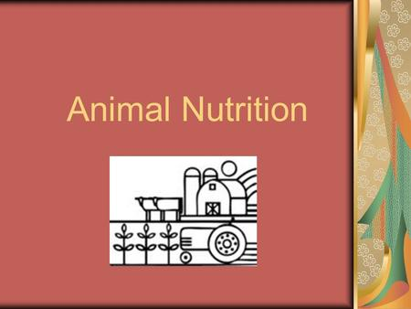 Animal Nutrition. REASONS WHY ANIMALS NEED FEED MAINTENANCE GROWTH REPRODUCTION LACTATION WORKING OTHER PRODUCTS AND USES.