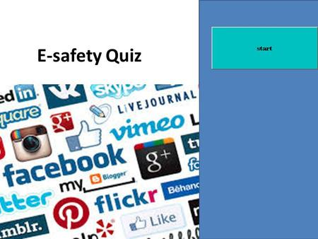 E-safety Quiz. What is E-safety? E-safety is keeping safe online. It is very important to know how to do this now as there is more and more social networking.