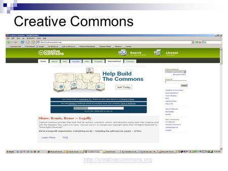 Creative Commons  Creative Commons Wanna Work TogetherWanna Work Together Video What is Creative Commons? An alternative to.