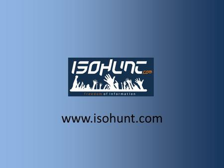 Www.isohunt.com. Search bar, top of page, easy to find. Advertisements either side of main script. Advert. Although personally I find this website easy.