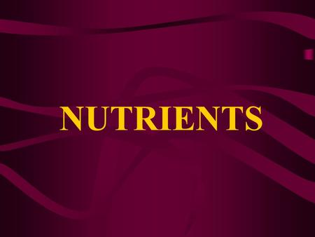 NUTRIENTS. CARBOHYDRATES Body's main source of energy Sugars, starches, grains, rice, pastas, and fiber are examples of carbohydrates 60% of your diet.
