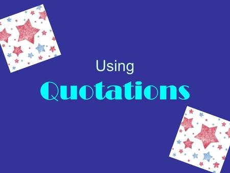 "Using Quotations. Direct Quotes A direct quote is an exact, word for word copy of the original source. For example, ""In a paper analyzing primary sources."
