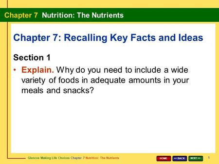 Chapter 7: Recalling Key Facts and Ideas