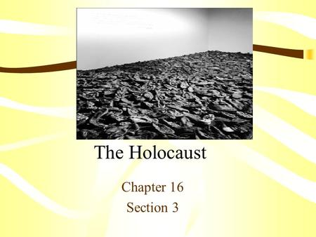 The Holocaust Chapter 16 Section 3.