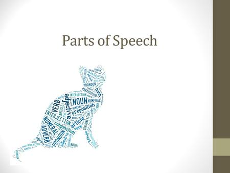 Parts of Speech. Nouns A noun is a word that names a person, place, a thing, or an idea. Examples: Person: uncle, baby, John Thing: car, door, book Idea: