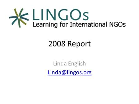 2008 Report Linda English Total Completed Courses in LMS.