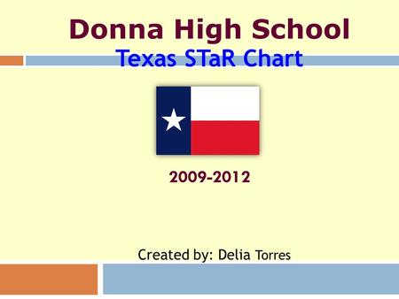 Donna High School Texas STaR Chart 2009-2012 Created by: Delia Torres.