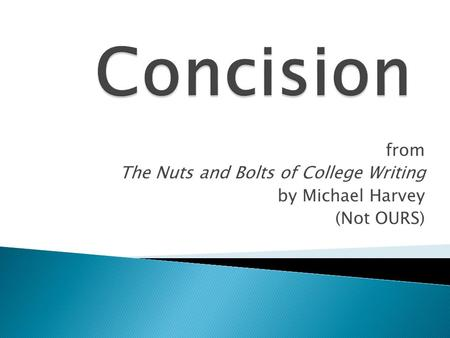 nuts and bolts of college writing pdf