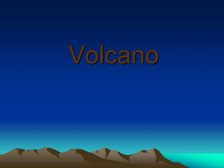 Volcano. Volcano is a mountain with a hole called a crater in the top. Sometimes lava and gases are thrown from the crater. This is a volcanic eruption.