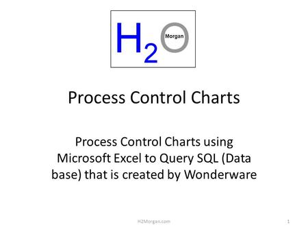 Process Control Charts Process Control Charts using Microsoft Excel to Query <strong>SQL</strong> (Data base) that is created by Wonderware 1H2Morgan.com.