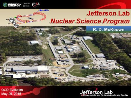 Jefferson Lab Nuclear Science Program QCD Evolution May 26, 2015 R. D. McKeown.