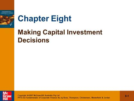 literature review of capital investment decision F capital investment decisions: an overview capital investment decisions are the responsibility of managers of investment centers (see chapter 12).