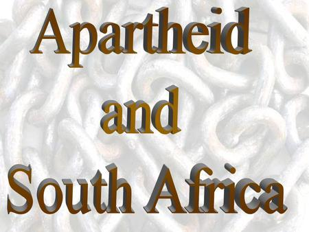 apartheid A policy of segregation and discrimination against non-white groups in the Republic of South Africasegregationdiscrimination Literally means.