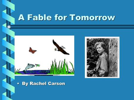 A fable for tomorrow by rachel carson essay