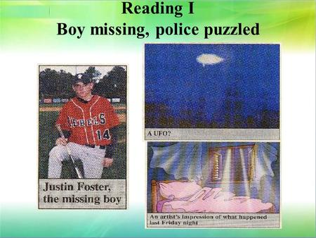 Reading I Boy missing, police puzzled
