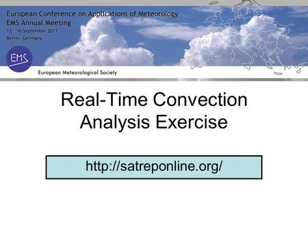 Real-Time Convection Analysis Exercise