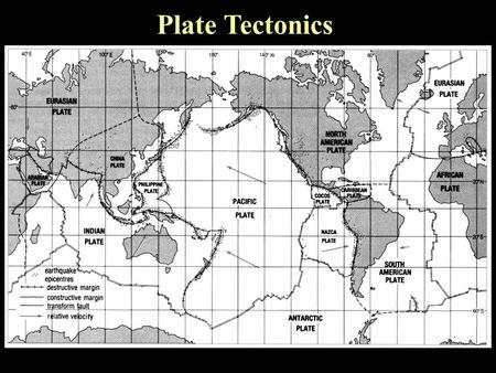 Plate Tectonics. Earth's Interior lithosphere Earth ' s thinnest layer Earth ' s thinnest layer divided into about 30 huge, moving divided into about.