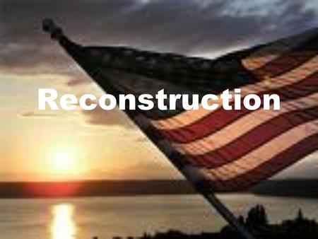 Reconstruction. The Civil War ended in 1865 followed by a period of gradually bringing Southern states back into the Union. This period is Reconstruction.