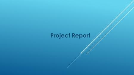 Project Report. Suggested TOC Executive Summary Project Background and Assumptions Vision and Mission Statements Objectives SWOT Analysis Recommended.