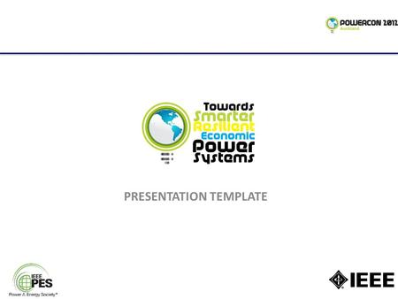 PRESENTATION TEMPLATE. PES GUIDELINES FOR PRESENTATION  pes-presentations