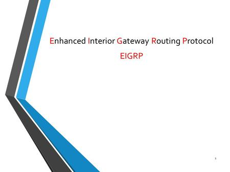 Enhanced Interior Gateway Routing Protocol EIGRP 1.