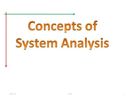1 ISA&D29-Oct-13. 2 ISA&D29-Oct-13 Systems Analyst: problem solver IT and Strategic Planning.