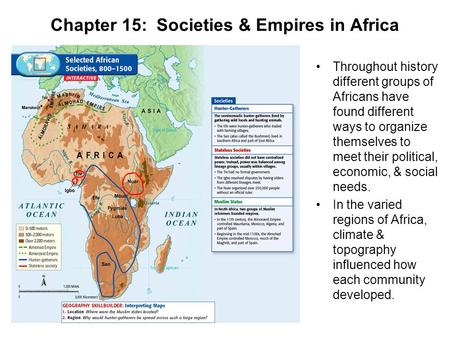 Chapter 15: Societies & Empires in Africa