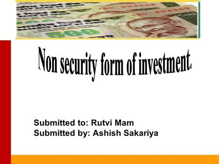 New Issue Market Submitted to: Rutvi Mam Submitted by: Ashish Sakariya.