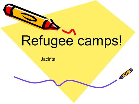 Refugee camps! Jacinta. Image: 'Refugee Camp' Camp 1. Don't have good surigie in toilets If you don't.
