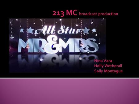  The new show all-star Mr. and Mrs. started spring 2008 The idea of the show is to test celebrity couples on how much they know about each other it is.