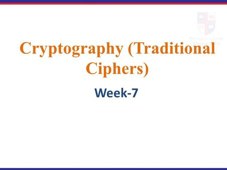 Cryptography (Traditional Ciphers)