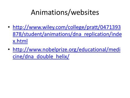 Animations/websites  878/student/animations/dna_replication/inde x.html