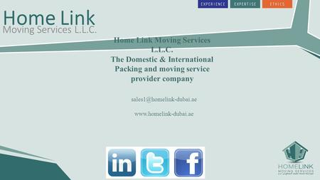 Home Link Moving Services L.L.C. The Domestic & International Packing and moving service provider company