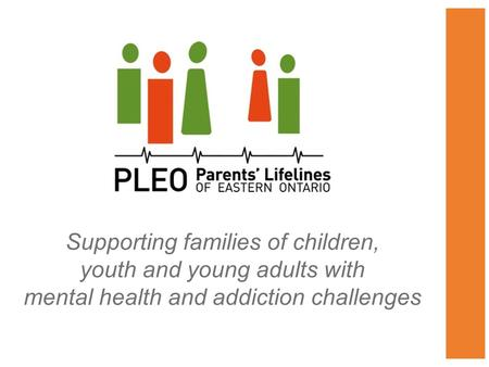 Supporting families of children, youth and young adults with mental health and addiction challenges.