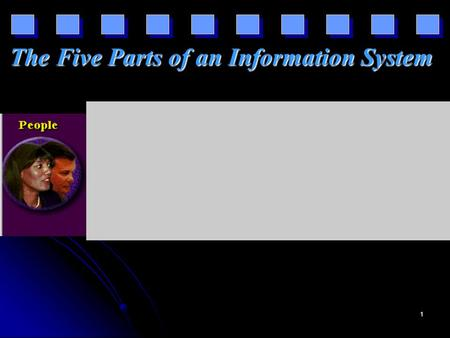1 The Five Parts of an Information System. 2 3 4.