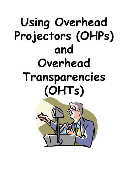 using overhead transparencies How to print transparencies and other professionals use transparencies on overhead projectors to make a wikihow staff editor reviewed this.