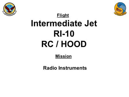 Flight Mission Intermediate Jet RI-10 RC / HOOD Radio Instruments.