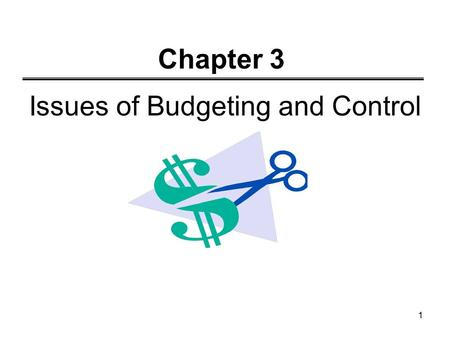 Issues of Budgeting and Control
