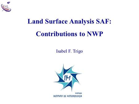 Land Surface Analysis SAF: Contributions to NWP Isabel F. Trigo.