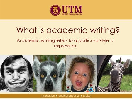 Academic writing help with examples ppt