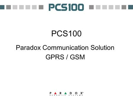Paradox Communication Solution GPRS / GSM