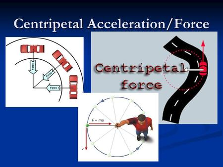 Centripetal Acceleration/Force. Centripetal Force/Acceleration Definition Centripetal force: Centripetal force: Any force that causes curved path motion.