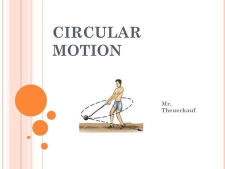 CIRCULAR MOTION Mr. Theuerkauf. CIRCULAR NOTES Axis – the line or point around which an object rotates. Rotation: spinning around an internal axis Example: