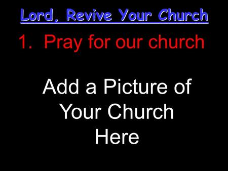 Lord, Revive Your Church