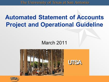 Automated Statement of Accounts Project and Operational Guideline March 2011.
