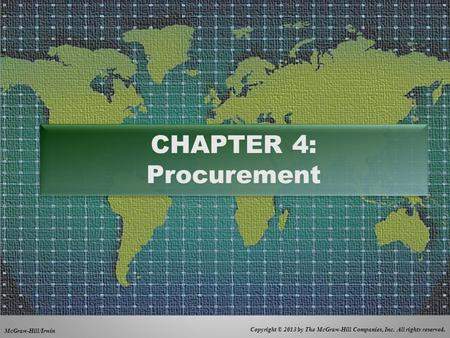CHAPTER 4: Procurement.